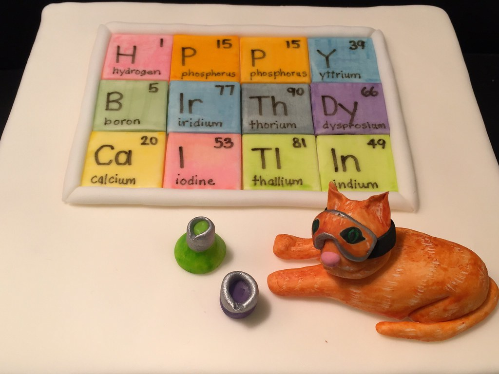 Celebrate with a cakes favorite flickr photos picssr caitlins periodic table birthday cake with science cat gamestrikefo Choice Image