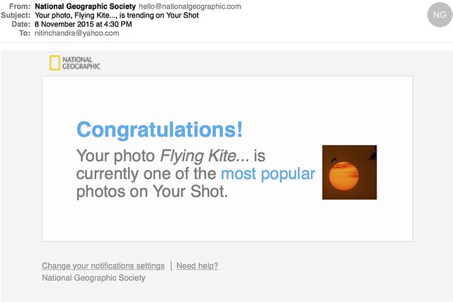 Your photo Flying Kite is trending on Your Shot