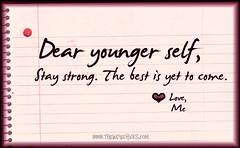 dear younger self
