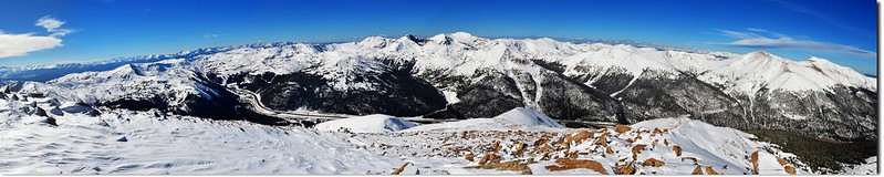 A 180° Panorama from the summit of Mount Sniktau(southwest to northeast) 1