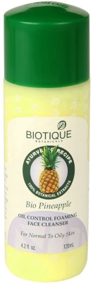 Best Face Wash for oily skin - Biotique Bio Pineapple Oil Control Foaming Face Cleanser