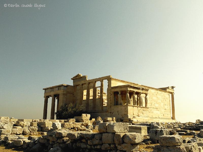 El templo del Erecteion, ubicado en la Acrópolis