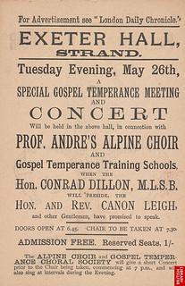Professor André's Alpine Choir flyer