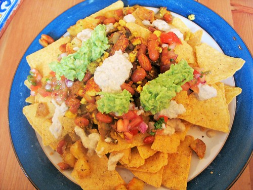 Vegan breakfast nachos