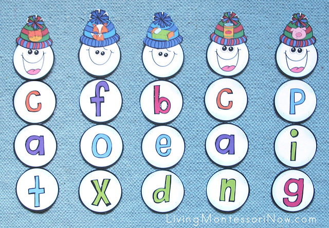 Build a Snowman CVC Word Layout