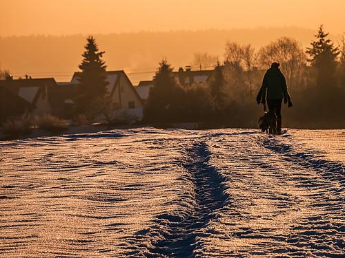 schnee winter sunrise sonnenaufgang feldweg kälte glitzer lumixdmcg5 gvario45150