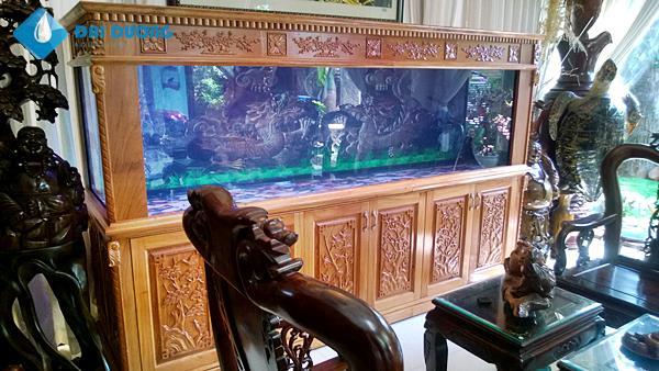 Bể cá rồng chạm cao cấp