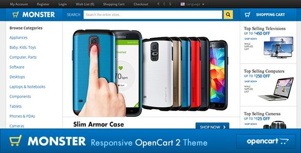ThemeForest Monster Responsive OpenCart 2.1.0.1 Theme