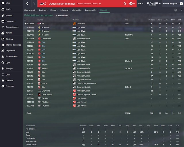 Football Manager: Kevin Wimmer - UE Olot
