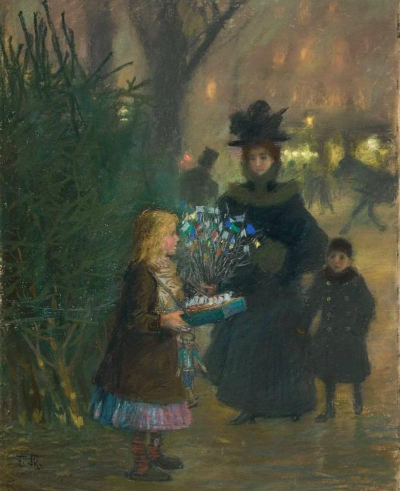 Christmas market by Franz Skarbina - circa 1900