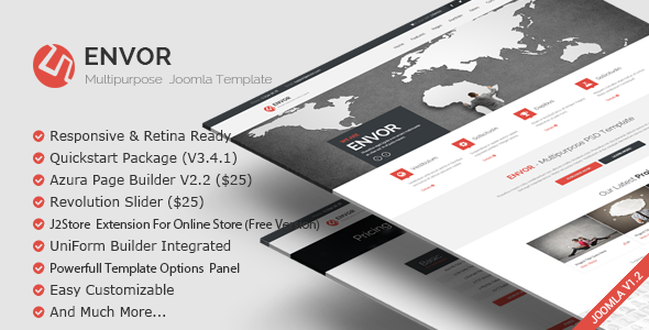 Envor v2.0 – Fully Multipurpose Joomla Template