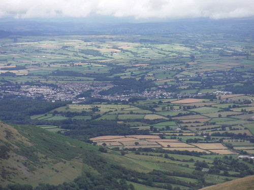 Brecon, from the Bryn Teg Descent Route