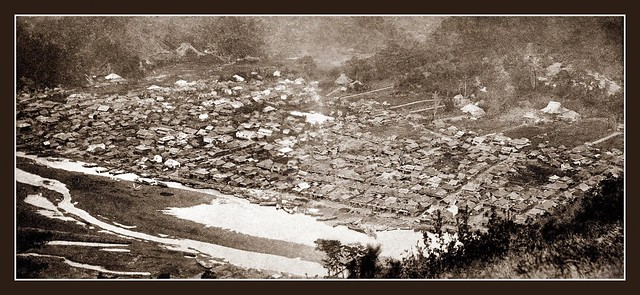 A RARE PANORAMA of SHIMODA, JAPAN -- Photographed fom the Side of MT. NESUGATA in 1864