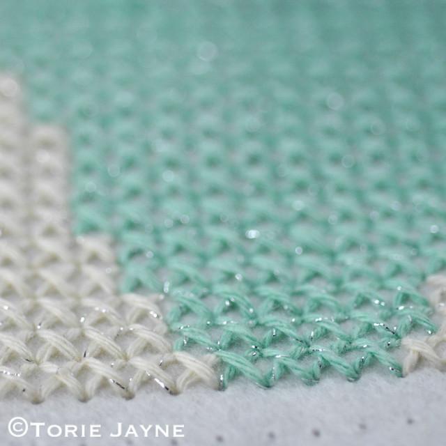 Cross stitched cushion 3