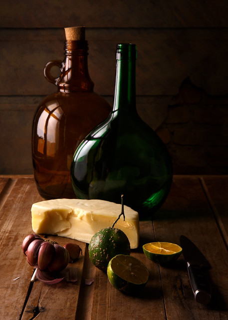 Still Life with lemons and cheese