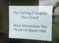 Tulving Company Closed