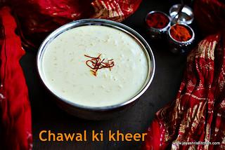 chawal ki- kheer