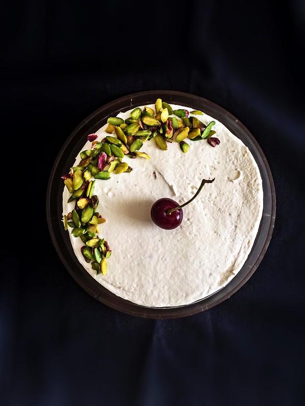 sour cherry pistachio cake