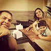 Com a família...
