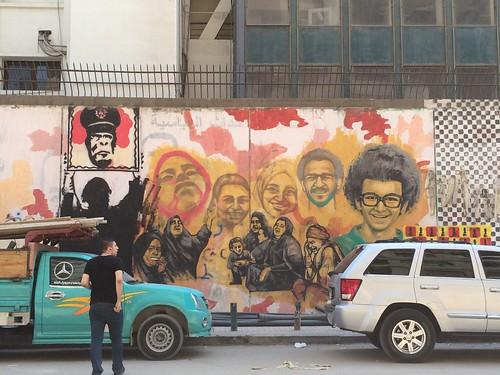 Demolishing Mohamed Mahmoud graffiti walls