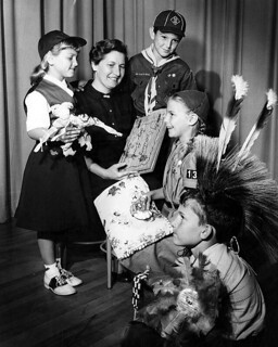 Scouts Camp Fire Girls, Brownies, and Cub Scout 1958 Reseda, CA