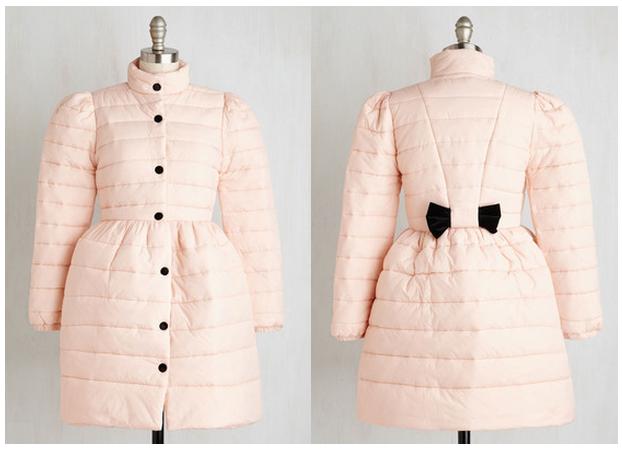 pink coat modcloth