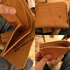 Horween English Tan Essex. The Boom #leather #wallet. This is a fantastic leather to work with. Makes a nice supple wallet. The recipient of this will be very happy. Still trying to decide whether to finish the edges or leave unfinished. I rather like the