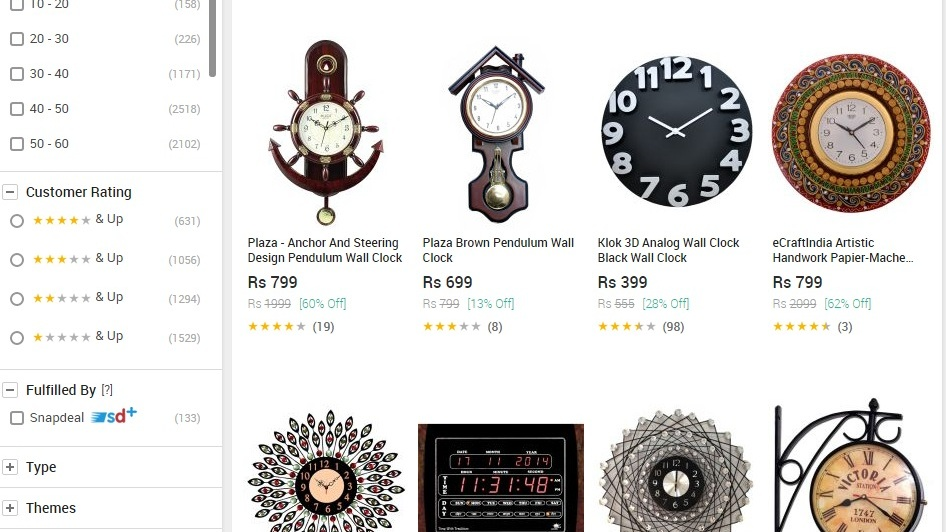 Snapdeal Wall Clock Offers Upto 90 Off Loot Offers Amp Deals