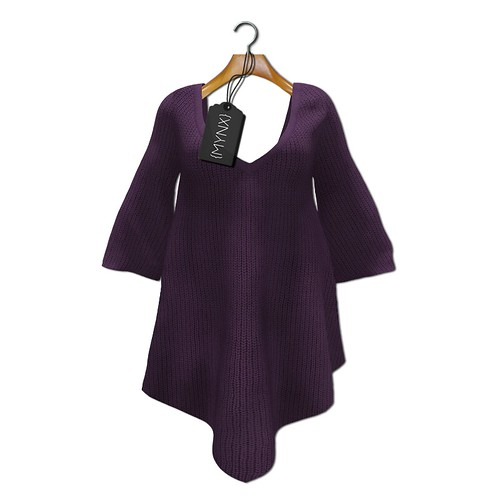 {MYNX} Sweater Poncho - Plum