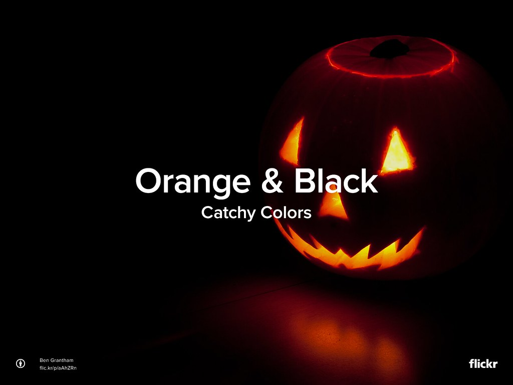 Catchy Colors: Orange & Black