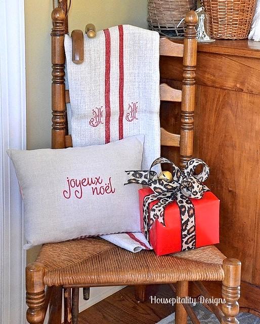 Foyer Chair for Christmas - Housepitality Designs