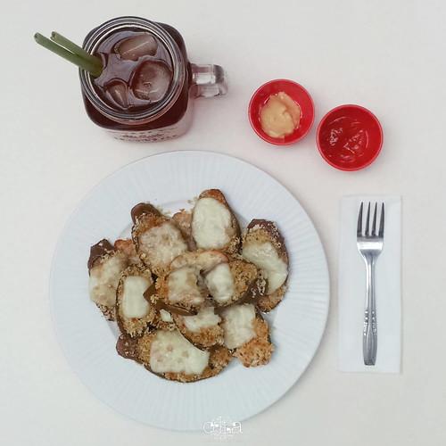 Terung Crunchy Mozarella Recipe Plating