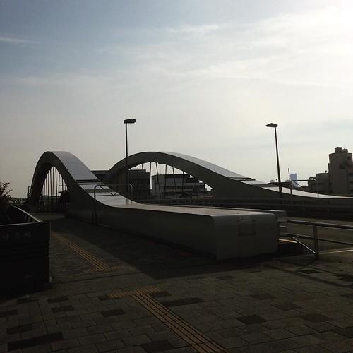 隅田川に架かる橋をひとつひとつ調べてくのは、楽しいだろうな。さっきのが新田橋。こっちが新豊橋。
