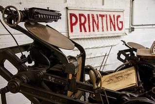 Hamilton Type Museum printing press