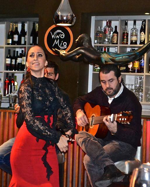 Flamenco show - restaurante vino mio, malaga spain