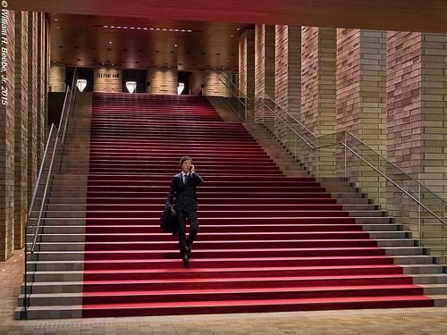 red stair walker