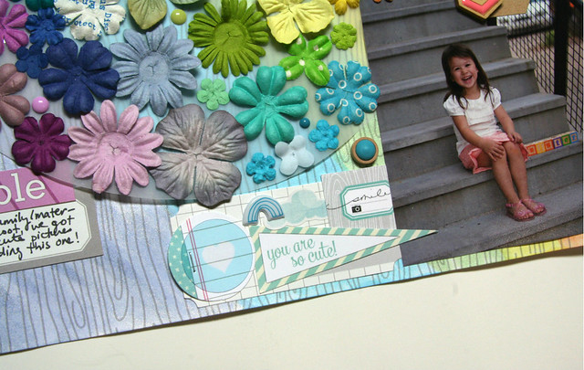 Rainbow Flower Big Sister Layout | shirley shirley bo birley Blog