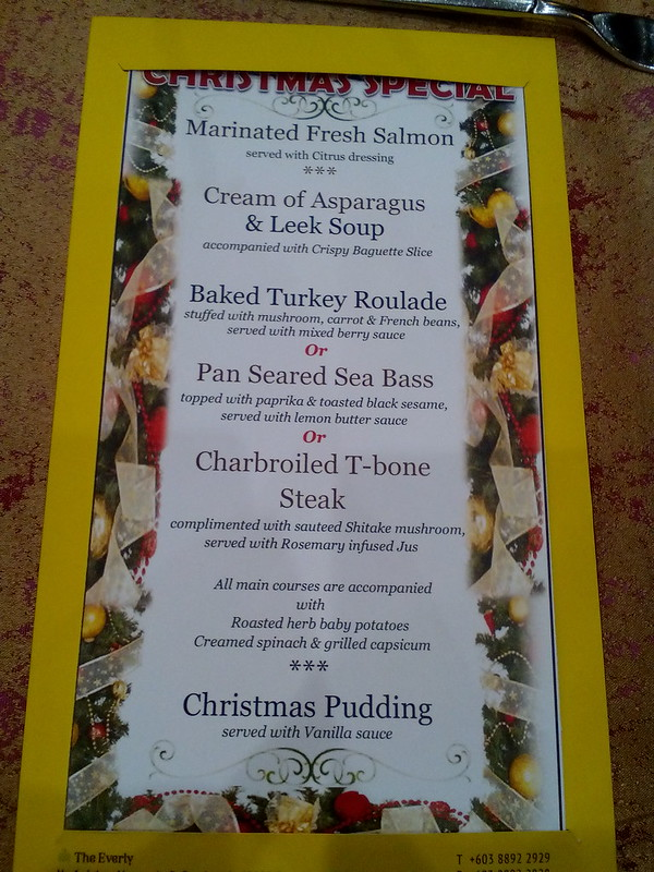 Christmas Set Dinner Menu @FuzeRestaurant, The Everly Putrajaya