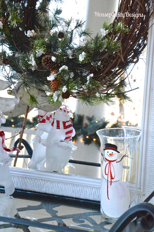 Snowman candle holder - Housepitality Designs