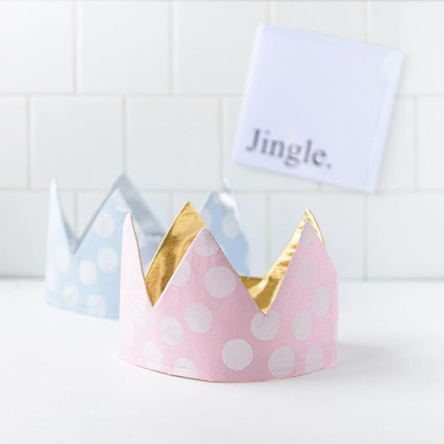 Pretty, pretty spotty crowns from @piplastudio just before they were sent on their way to my gorgeous nieces for Christmas.  I should probably apologise to my sister in law in advance for buying two different ones ?.  Oh and @piplastudio (a sw