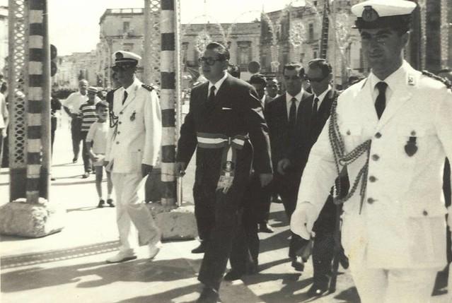 Casamasima- Ricordo di Luigi Ferri-Il sindaco Luigi Ferri alla processione di San Rocco