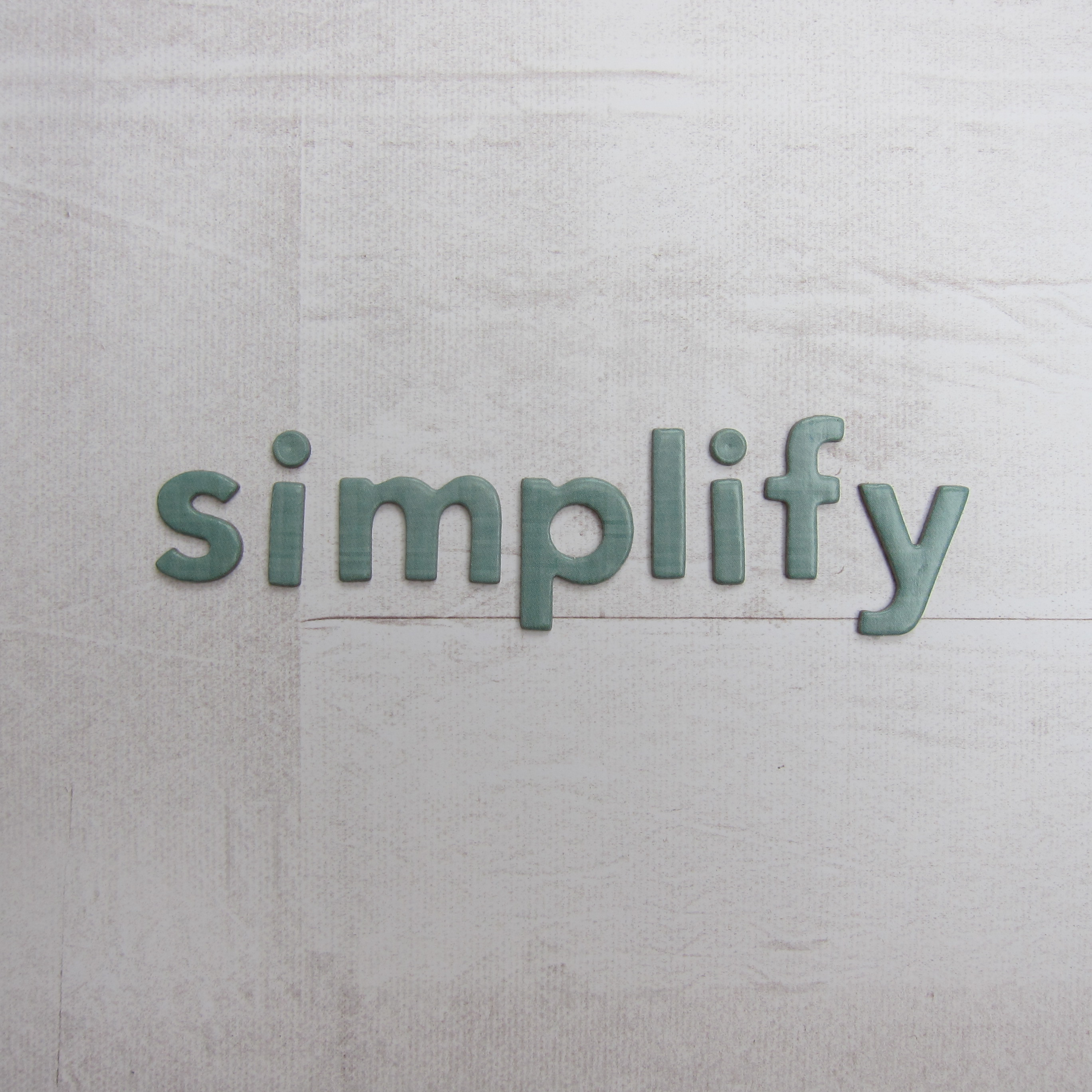 Simplify - One Little Word 2015
