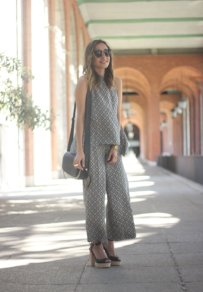 Black & White printted Set Summer Streetstyle outfit03