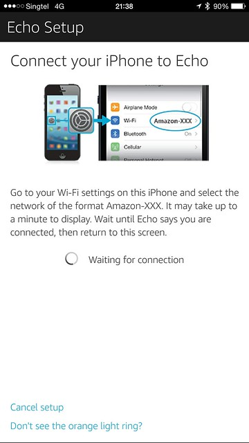 Amazon Echo iOS App - Setup