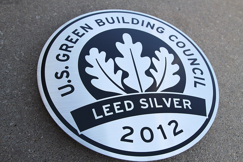 Leed Plaques Etched Glass Stainless Steel Bronze Impact Signs
