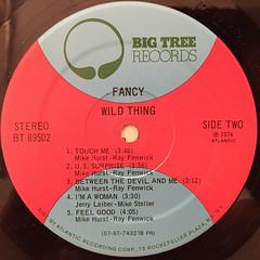 FANCY:WILD THING(LABEL SIDE-B)