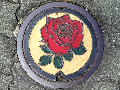 Godo Gifu, manhole cover 2 (岐阜県神戸町のマンホール2)