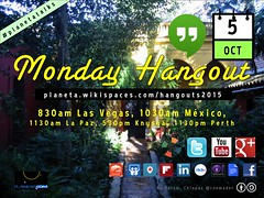 October 5 #PlanetaTalks Monday Hangout #PlanetaPlática