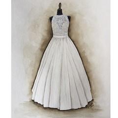 aqua(0.0), sleeve(0.0), cocktail dress(0.0), lavender(0.0), woman(0.0), bridesmaid(0.0), bridal party dress(1.0), bridal clothing(1.0), textile(1.0), gown(1.0), clothing(1.0), wedding dress(1.0), dress(1.0),