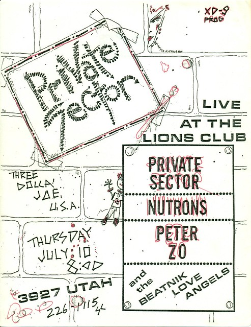 Private Sector, The Nutrons, & Peter Zo at the North Park Lions Club, San Diego, CA 1980